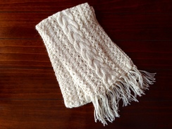 """Photo of Alpaca Scarf Cable Extra Long 76"""""""