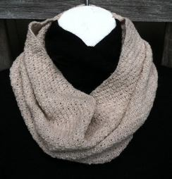 Photo of Moss Stitch Infinity Scarf
