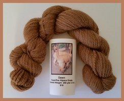 Photo of Alpaca Yarn Light Brown Worsted 200 yds