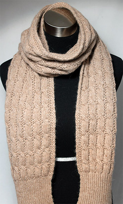 Photo of CABLE KNIT SCARF