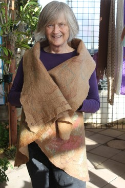 Photo of Nuno-Felted Alpaca and Silk Vest