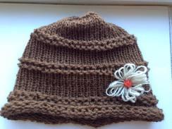 Photo of 100% USA alpaca hand-knit fashion hat
