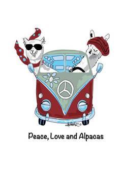 Photo of Tee Shirt - Peace, Love and Alpacas