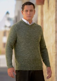 Photo of Baby Alpaca-Linen V-Neck Sweater