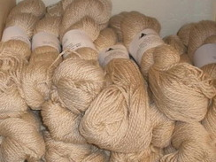 4 fleeces combined into very soft yarn