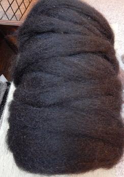 Photo of 100% Alpaca Rovings in Black