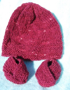 Photo of Infant Hat Set with Slippers