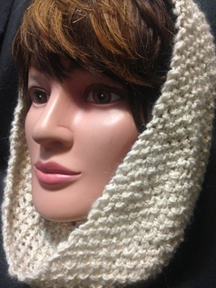 Photo of Knit Alpaca Cowl Scarf