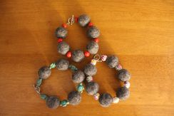 Photo of Fiber Felted Bracelet (Gray Fiber)