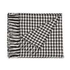Photo of Houndstooth Woven Scarf Baby Alpaca