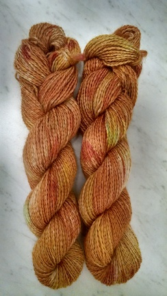 Photo of Hand Dyed Yarn - Gold in hand