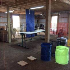 The shearing area.  Sure was clean before we started.