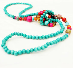 Photo of Wooden and Glass Beaded Necklaces