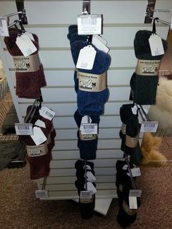 Photo of Dyed Alpaca Survival Socks