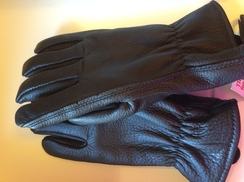 Photo of Alpaca lined Buckskin Leather Work Glove