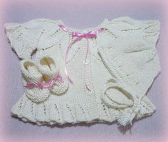 Photo of Baby Girl White Sweater Set Baby Alpaca