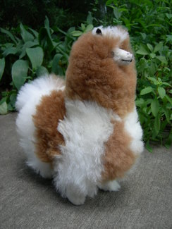 "Photo of 10"" standing stuffed alpaca"