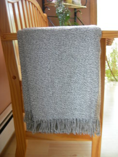 Photo of 100% Alpaca throw - Pebble gray