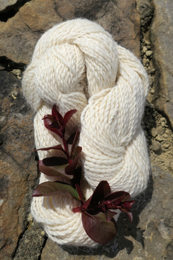 Photo of White Super Fine Alpaca Yarn