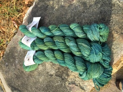 Photo of Fingering weight hand dyed 100% alpaca
