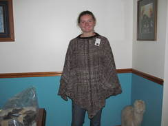 Photo of Poncho Woven Alpaca Varigated