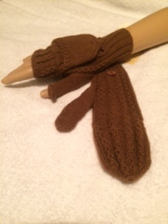 Photo of Handknit Cabled Glittens
