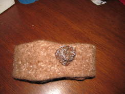 Photo of Felted Brown Head Band