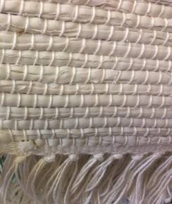 Photo of Hand Woven White Rug