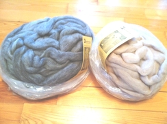 Photo of Roving-natural silver 4 oz
