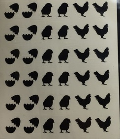 Photo of Chicken Nail Decals