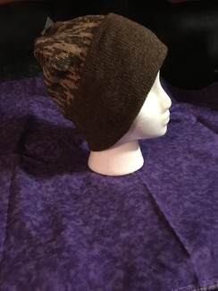 Photo of Camoflauge Cuff Hat, Dark Brown