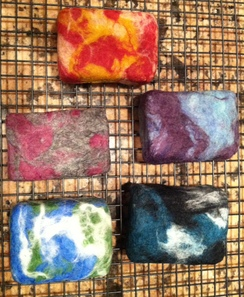 Learn how to make felted soap! $10 per person.