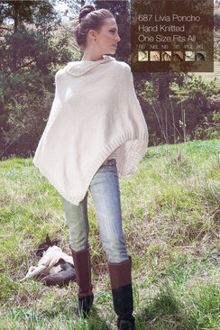 "Photo of Alpaca Poncho ""Livia"""