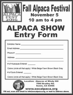 Photo of Alpaca Show/Evaluation -SoCalpaca Member