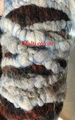 Photo of Rug Yarn ~  Blue, Black & Gray
