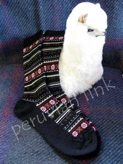 Photo of Ladies Flower Crew Alpaca Socks