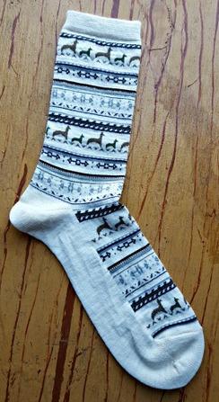 Photo of Alpaca Print Crew Socks