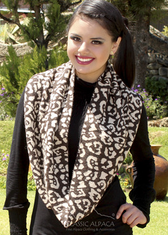 Photo of Animal Print Infinity Scarf