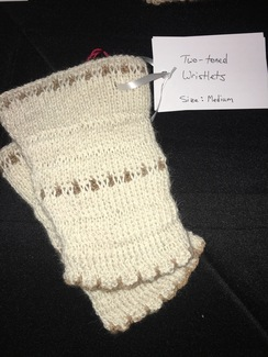 Photo of Handcrafted Two-Toned Knit Wristlets