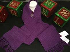 Photo of Dark Purple Double Knit Lace Scarf