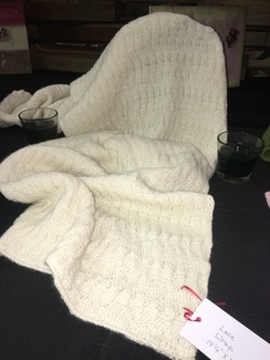 Photo of Natural White Double Knit Lace Wrap