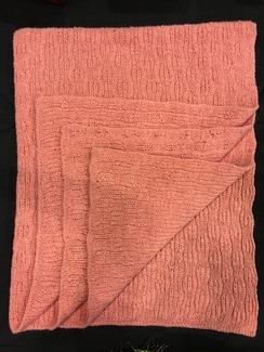 Photo of Cameo Pink Tuckerboard Baby Blanket