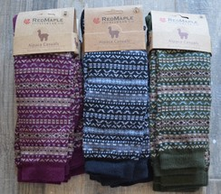 Photo of Fair Isle Alpaca Knee Socks
