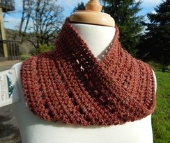 Photo of Alpaca Hand Crocheted, Hand Dyed Cowl