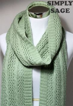 Photo of Scarf -Cable and Lace Scarf
