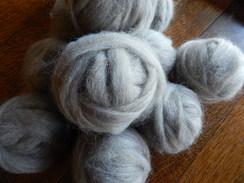 Photo of Rovings 100% Alpaca Natural Grey