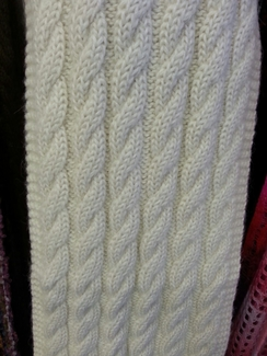 Photo of Multi Cable Knit Alpaca Scarf
