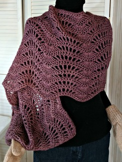 Photo of Wave Crocheted Shawl SOLD