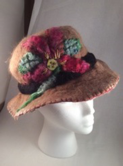 Photo of Felted alpaca bell cloche hat