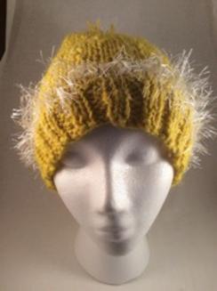 Photo of Yellow alpaca hat